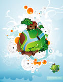 Planet illustration Royalty Free Stock Photos