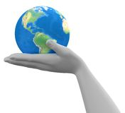 Planet In The Hand Royalty Free Stock Images
