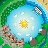 Planet inom Oändlighet inom Stock Illustrationer