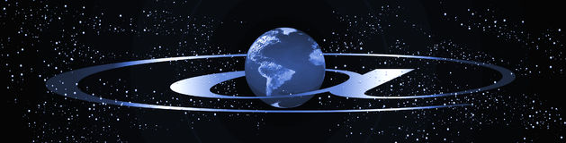 Planet internet banner stock photography