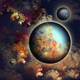 PLANET JO. Unknown planet in the universe, a new planet Stock Photos