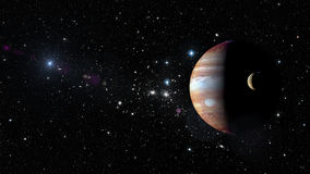 Planet Jupiter in outer space. Elements of this image furnished by NASA Royalty Free Stock Photo