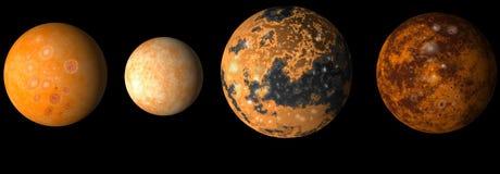 Planet Jupiter's moons vector illustration