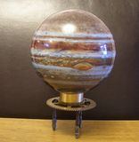 Planet Jupiter On Steampunk Art Vintage Brass Cog Stand. I made this stand for this jupiter sphere to sit on.I sold this on ebay UK Royalty Free Stock Photos