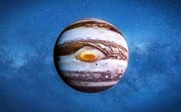 Planet Jupiter und die Sterne der Galaxie lizenzfreie abbildung