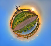 Planet Kinderdijk Arkivbilder
