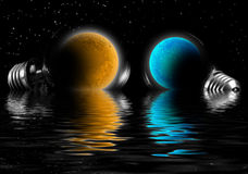 Planet in lamp. Royalty Free Stock Photo