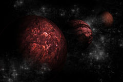 Planet landscape in space. Stock Photo