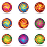 Planet like Spheres. Vector illustration of colorful Planet like Spheres Royalty Free Stock Images