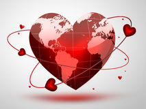 Planet of love Royalty Free Stock Image