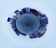 Planet of Manhattan. Picture (polarised filter) of Manhattan (planet)_ view from Hudson river Stock Photography