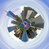 Planet of Manhattan. The Manhattan Planet in blue space Royalty Free Stock Images