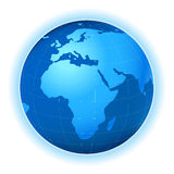 Planet map. Planet earth map, africa view; illustration Stock Images