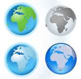 Planet map. Planet earth map, africa and europe view; illustration Stock Photography