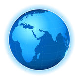 Planet map. Planet earth map; stylized illustration Stock Photos