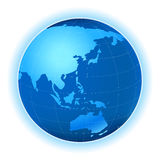 Planet map. Planet earth map; abstract, illustration Stock Photography