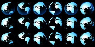 Planet map Royalty Free Stock Image