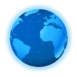 Planet map. Planet earth map; illustration; light blue Stock Photo