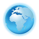 Planet map Royalty Free Stock Photo