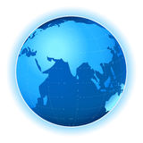Planet map. Planet earth map; illustration in blue tones Stock Photo