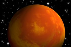Planet mars. Illustration of the planet mars Royalty Free Stock Image