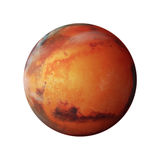 Planet Mars. 3D rendition of planet Mars with white background Royalty Free Stock Images