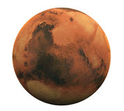 Planet Mars Isolated Stock Photo
