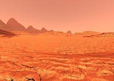 Planet Mars Lanscape der Wiedergabe-3D Stockfotografie