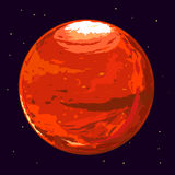 Planet Mars. One full planet Mars in space, space exploration and colonize illustration Stock Images