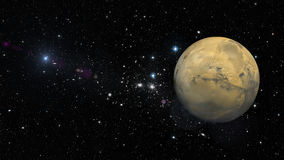 Planet Mars in outer space. Elements of this image furnished by NASA Royalty Free Stock Photo