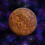 Planet Mars red  Galaxyl 3D illustration. Planet Mars red against the background of the cosmos and the stars 3D illustration Stock Photos
