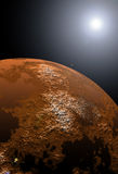 Planet Mars at sunrise Royalty Free Stock Images