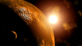 Planet Mars at sunrise Stock Photos