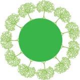 Planet med gröna träd vektor illustrationer