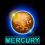 Planet mercury Stock Image