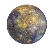 Planet Mercury Isolated. On white background. 3D render Royalty Free Stock Photos
