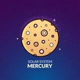 Planet Mercury vector illustration Stock Photography