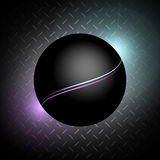 Planet on the metal background. Color Stripes Stock Image