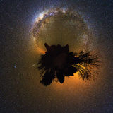 360 planet Milky way Royalty Free Stock Images