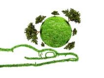 Planet mit Baum in der Hand Lizenzfreie Stockfotos