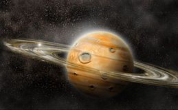 Planet mit Ringsystem Stockbild