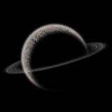 Planet mit Sonne und Gurt Stockbild