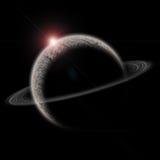 Planet mit Sonne und Gurt Lizenzfreie Stockbilder