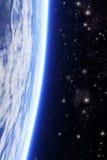Planet mit starfield Hintergrund Lizenzfreies Stockbild