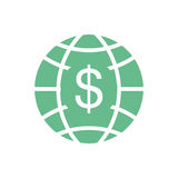 Planet with money symbol Royalty Free Stock Photos