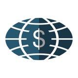 Planet with money symbol Stock Photo
