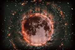 Planet Moon bombs Royalty Free Stock Photography