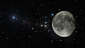 Planet Moon in outer space. Elements of this image furnished by NASA Stock Photography