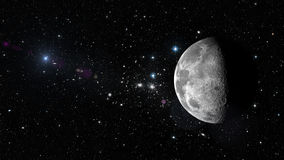 Planet Moon in outer space. Elements of this image furnished by NASA Stock Image