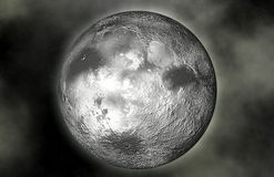 Planet moon and stars. Stock Photography